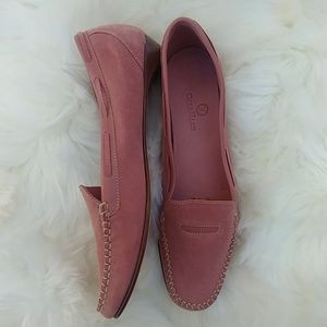 Cole haan light pink suede loafers